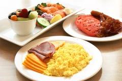 早餐蛋白质系列 免版税库存照片
