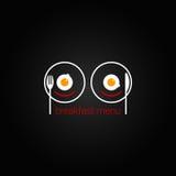 早餐被扰乱的菜单设计backgraund 免版税库存照片