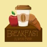 早餐设计 库存照片