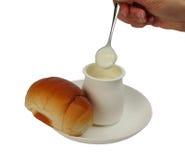 早餐酸奶 库存照片