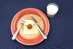 早餐饮食,减重 免版税库存照片