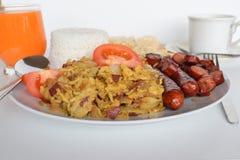 早餐,简单的早餐,亚洲早餐,菲律宾早餐,传统菲律宾早餐 免版税库存照片