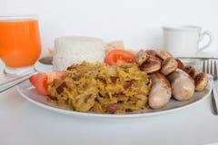 早餐,简单的早餐,亚洲早餐,菲律宾早餐,传统菲律宾早餐 图库摄影