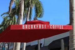 早餐-咖啡在佛罗里达 免版税库存照片