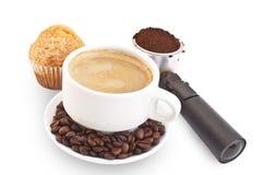 早餐caffe 免版税库存图片