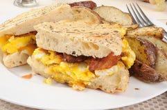 早餐panini 库存照片