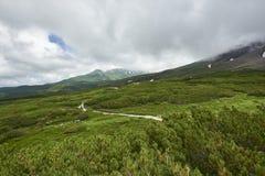 旭区dake山在北海道日本 库存照片