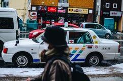 旭川,北海道在冬天 免版税图库摄影