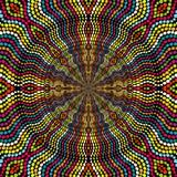 旭日形首饰由色的小点做成 免版税图库摄影