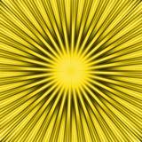 旭日形首饰黄色 库存照片