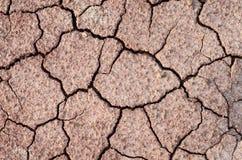 旱田崩裂的地球纹理 库存照片