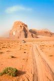 旱谷兰姆酒沙漠,乔丹。 库存图片