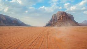 旱谷兰姆酒沙漠,约旦 图库摄影