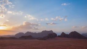 旱谷兰姆酒沙漠,约旦 免版税库存图片