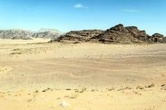 旱谷兰姆酒沙漠 免版税库存照片