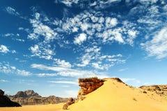 旱谷兰姆酒沙漠 图库摄影