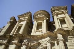 旱谷的芭蕉科Petra修道院 库存照片