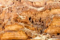 旱谷Qelt洞, Judean沙漠 免版税库存图片