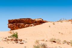 旱谷Ram沙漠,约旦 免版税库存图片