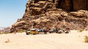 旱谷Ram沙漠,约旦 图库摄影
