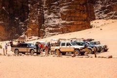 旱谷Ram沙漠,约旦 免版税库存照片