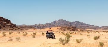旱谷Ram沙漠,约旦 免版税图库摄影