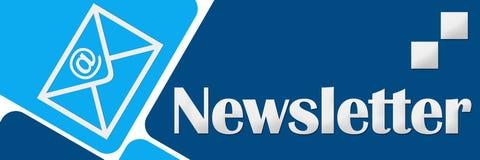 时事通讯两蓝色正方形 免版税图库摄影