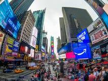 时代广场天时间都市风景 库存图片