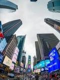 时代广场天时间都市风景 库存照片