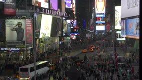 时代广场新的Yorl在晚上 股票录像