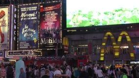 时代广场新的Yorl在晚上 股票视频