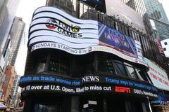 时代广场,修造的纽约 免版税库存图片