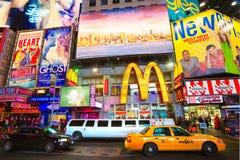 时代广场,纽约。 美国. 免版税库存图片