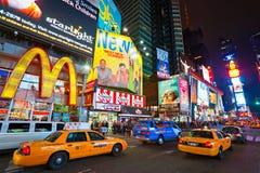 时代广场,纽约,美国。 免版税图库摄影