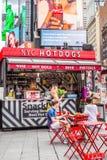 时代广场NYC在夏日 免版税库存图片