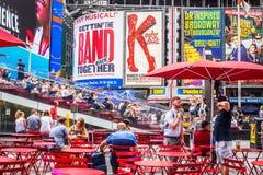 时代广场NYC在夏日 库存图片