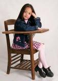 时兴的女孩学校 免版税库存照片