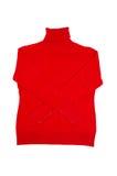 时兴的红色毛线衣白色 免版税库存图片