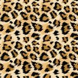 时兴的豹子无缝的样式 时尚的风格化被察觉的豹子皮肤背景,印刷品,墙纸,织品 库存例证