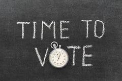 时刻投票 免版税库存图片