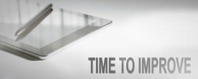 时刻改进企业概念数字技术 图库摄影
