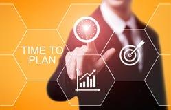 时刻计划战略成功项目目标企业技术互联网概念 免版税库存图片