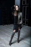 时尚军事称呼 在夹克的模型 免版税图库摄影