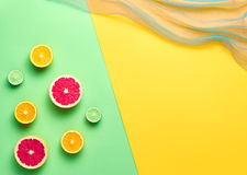 时尚夏天热带水果 最小的艺术概念 免版税库存图片