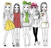 时尚女孩 库存照片