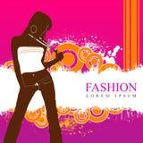时尚妇女模型 免版税库存照片