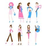 时尚妇女汇集 免版税图库摄影