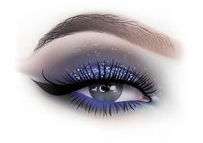 时尚妇女眼睛构成 向量例证