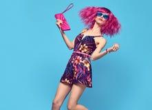 时尚妇女舞蹈 魅力美丽的党夫人 免版税库存照片
