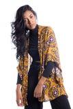 时尚姿势的美好的模型 beauvoir 巴西佩带的叫喊 图库摄影